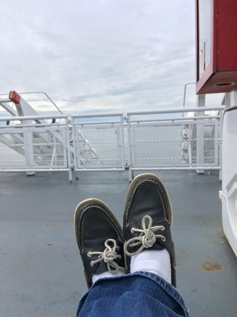 feet on ferry